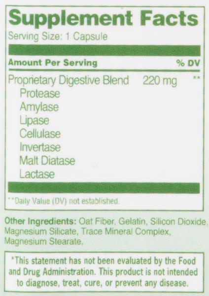 Hy-Vee Healthmarket All Natural Digestive Enzymes 220Mg Capsules