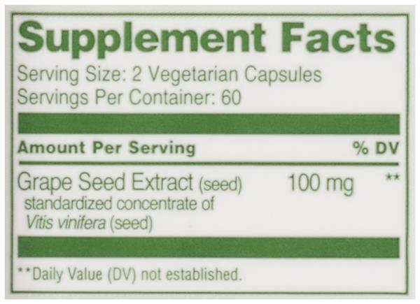 Hy-Vee HealthMarket All Natural Grape Seed Extract Vegetarian Capsules